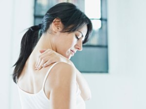 Picture of woman with neck pain