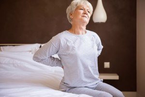 Picture of older woman with low back pain