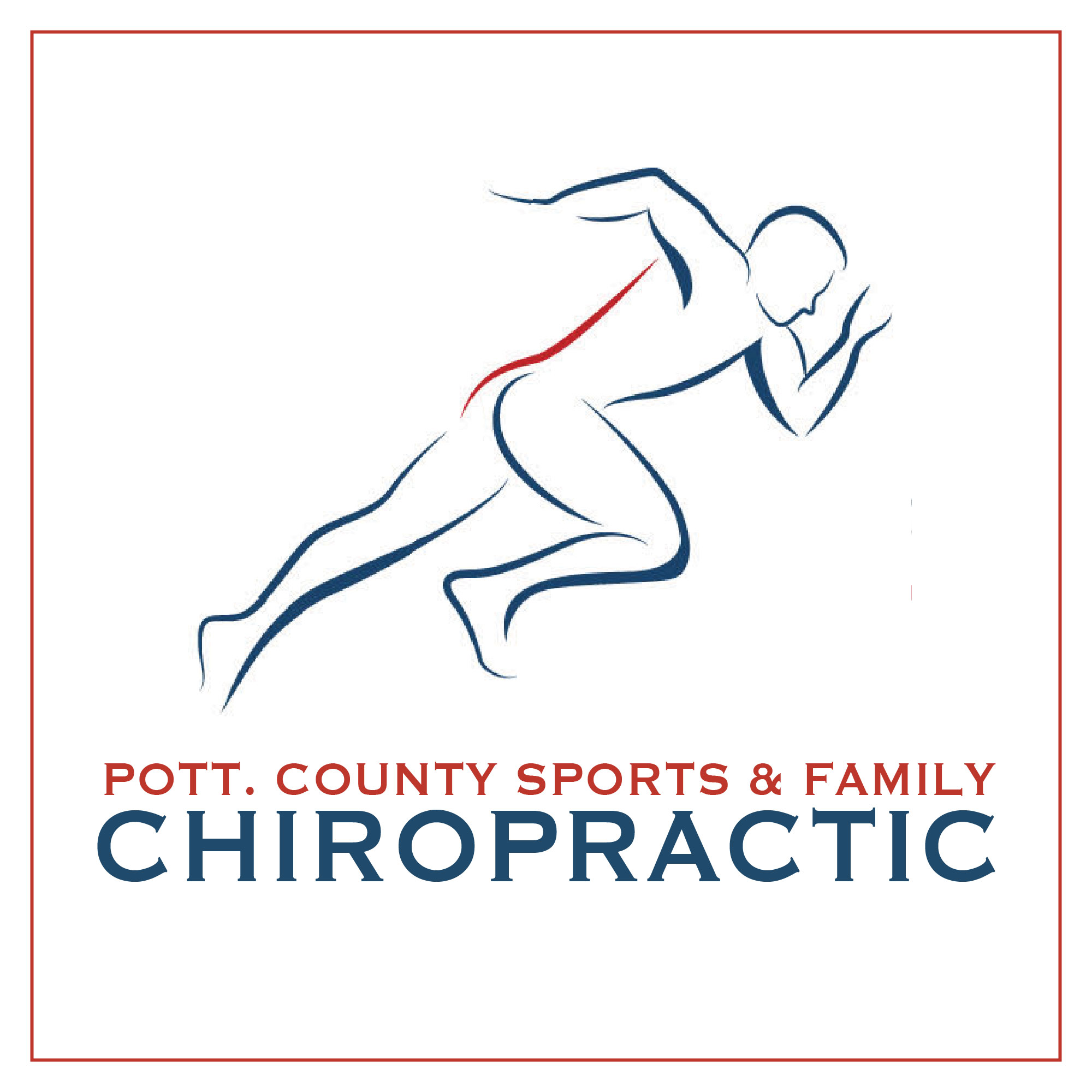 Pott. County Sports & Family Chiropractic square logo